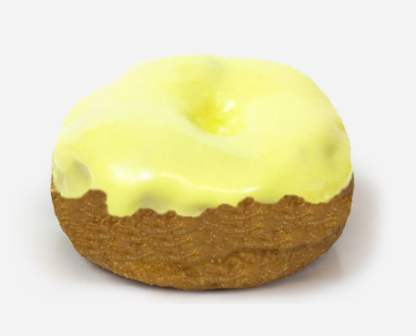donut large lemon
